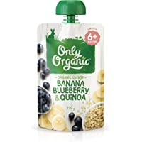 Only Organic Banana Blueberry & Quinoa  6+ Months - 120g