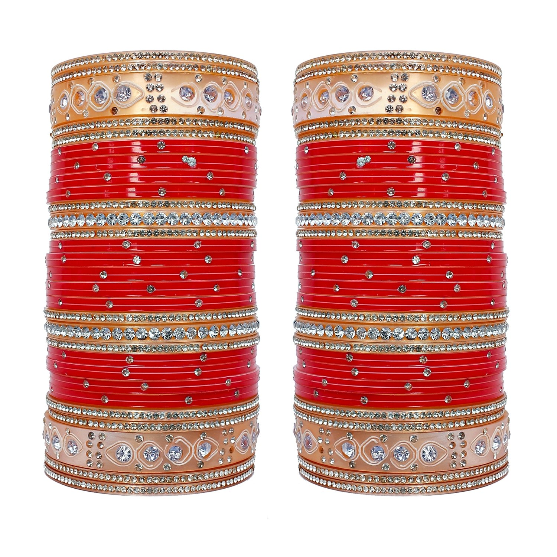 Red Designer Chura Bridal Dulhan Wedding Punjabi Choora Fashion free Shipping Jewelry & Watches