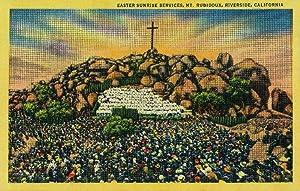 Easter Sunrise Service at Mt. Rubidoux (16x24 Fine Art Giclee Gallery Print, Home Wall Decor Artwork Poster)