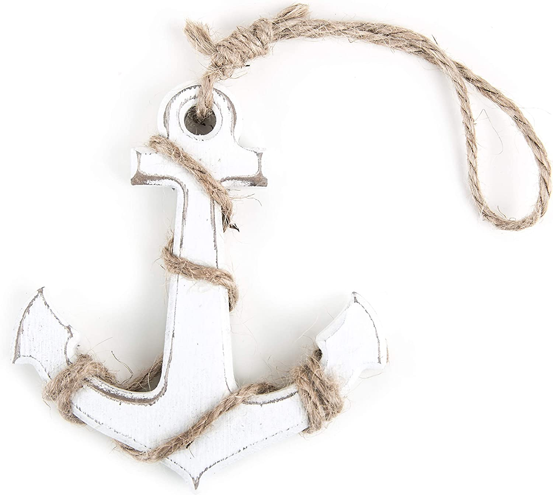 Logbuch-Verlag 9 Ankeranh/änger Anker 6,5 cm in Silber zum Aufh/ängen Maritime Deko Gastgeschenk Symbolgeschenk Hochzeit Taufe Firmung Kommunion Gl/ücksbringer