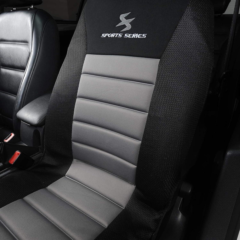 eSituro SCSC017239 Autositzbez/üge Einzelsitzbezug universal Sitzbez/üge f/ür Auto Schonbezug Schoner Dicke gepolstert schwarz
