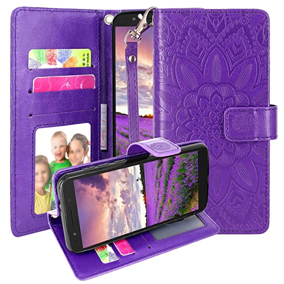 f9dea0db916f Alcatel IdealXtra Case (5059R), Alcatel 1X Evolve/TCL LX (A502DL) Case  (2018), Harryshell Kickstand Flip PU Leather Protective Wallet Case Cover  with ...