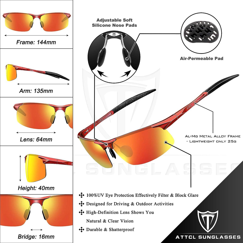 ATTCL Mens Fashion Driving Polarized Sunglasses Al-Mg Metal Frame Ultra Light