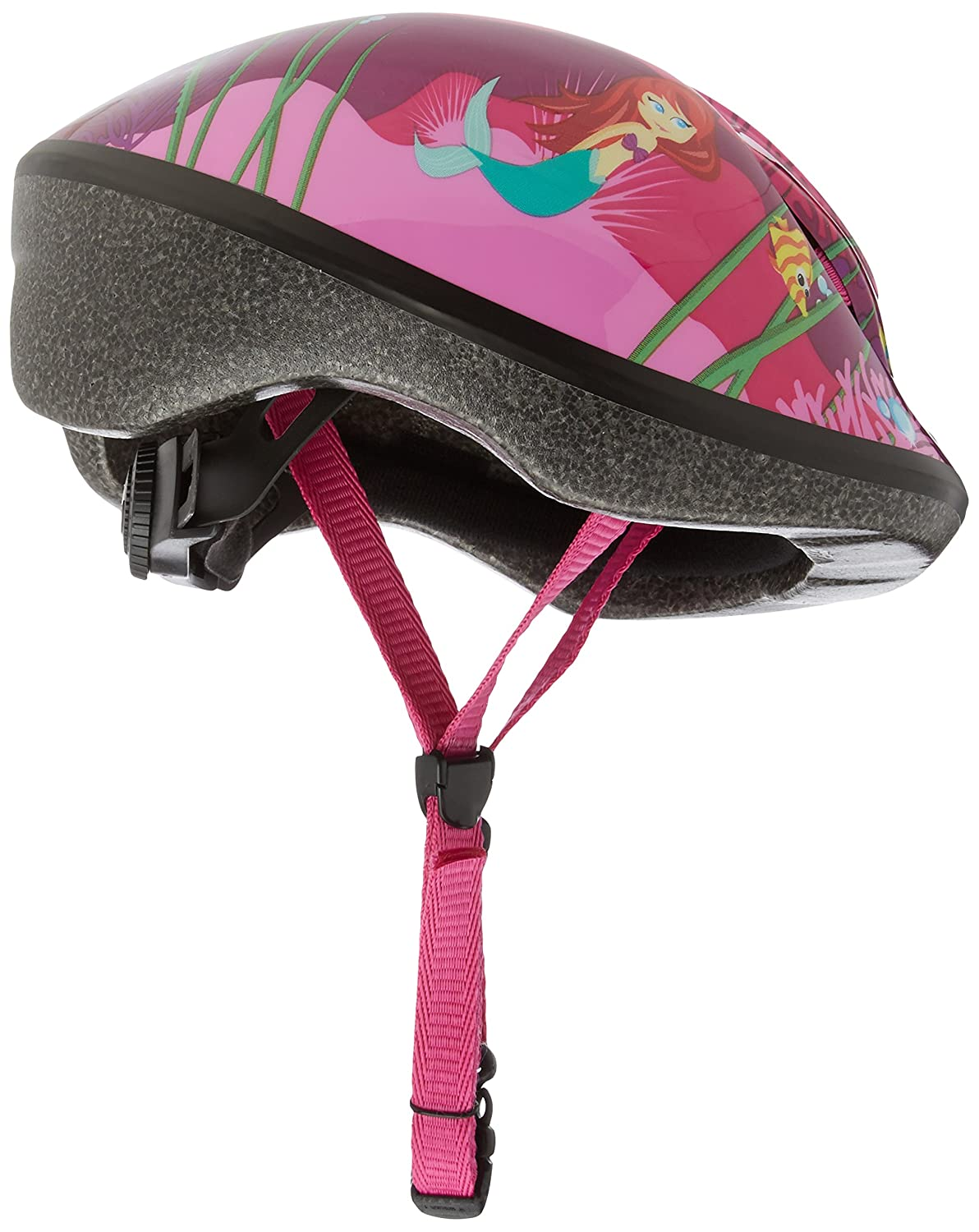 Raleigh Girl s Little Terra Mermaid Cycle Helmet – Black Green, 48-54 cm
