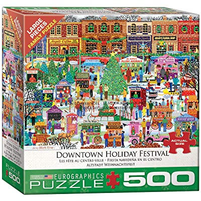 EuroGraphics Downtown Holiday Festival 500-Piece Puzzle: Toys & Games