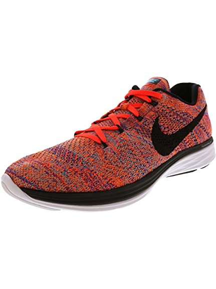 the latest a51a5 33809 Nike Mens Flyknit Lunar3, Concord/Black-Total Crimson-Total ...