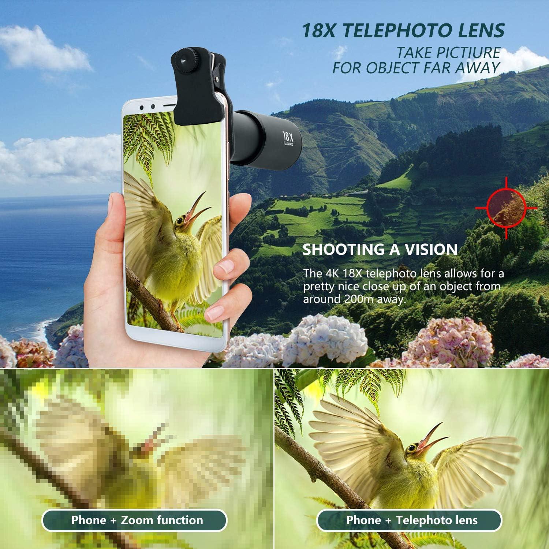 Lens Attachments Aluminium HD Smartphone Lens for iPhone Monocular ...