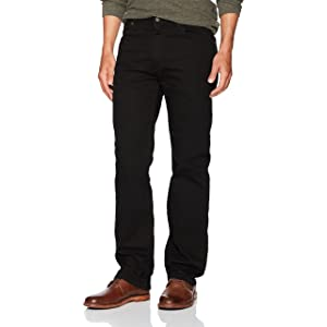 Wrangler Mens Regular Fit Jeans, Dark Denim, 29W x 30L at ...
