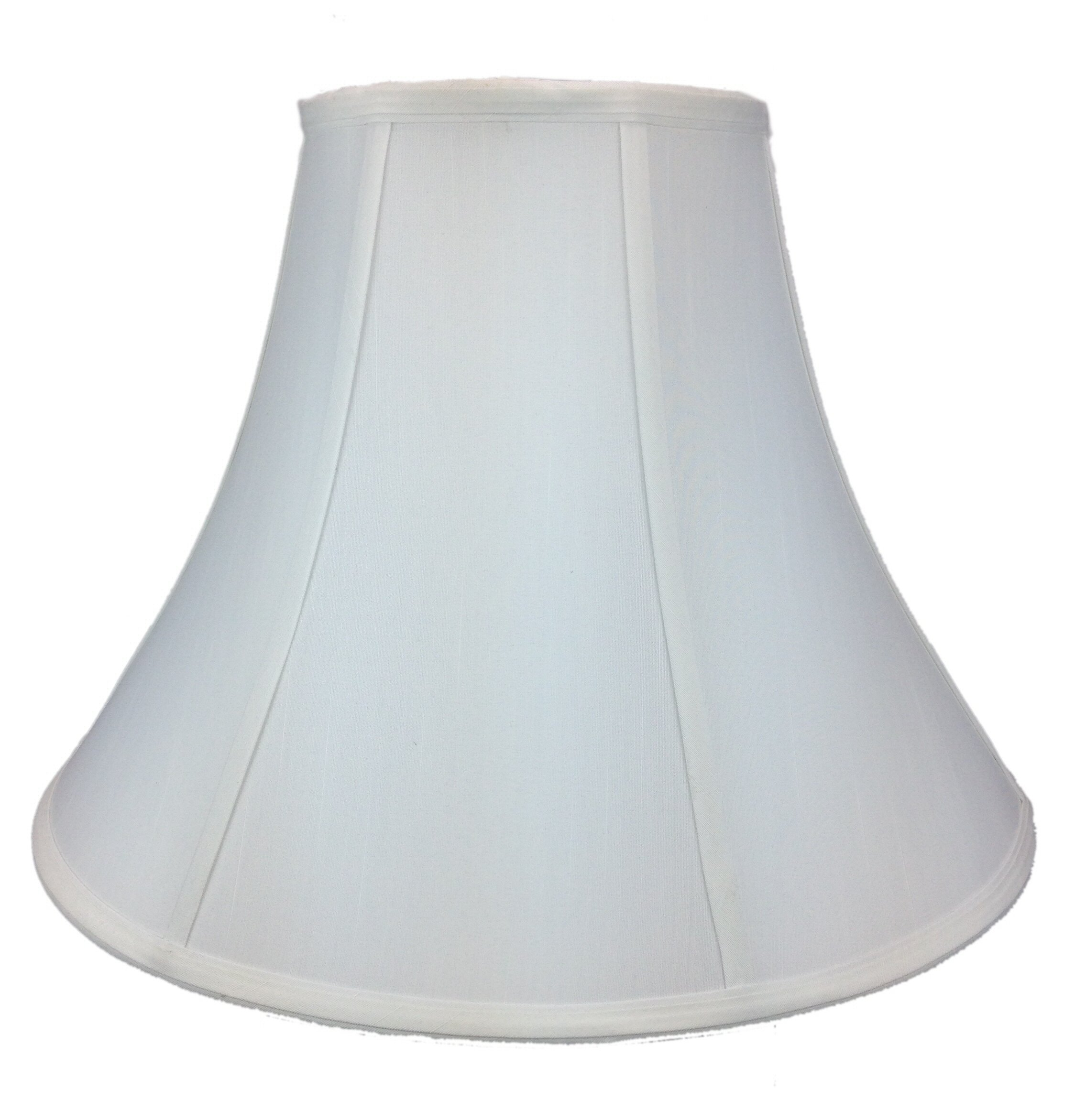 7x17x12 White Shantung Bell Shade with Brass Spider fitter By Home Concept - Perfect for table lamps and some desk lamps -Medium, White