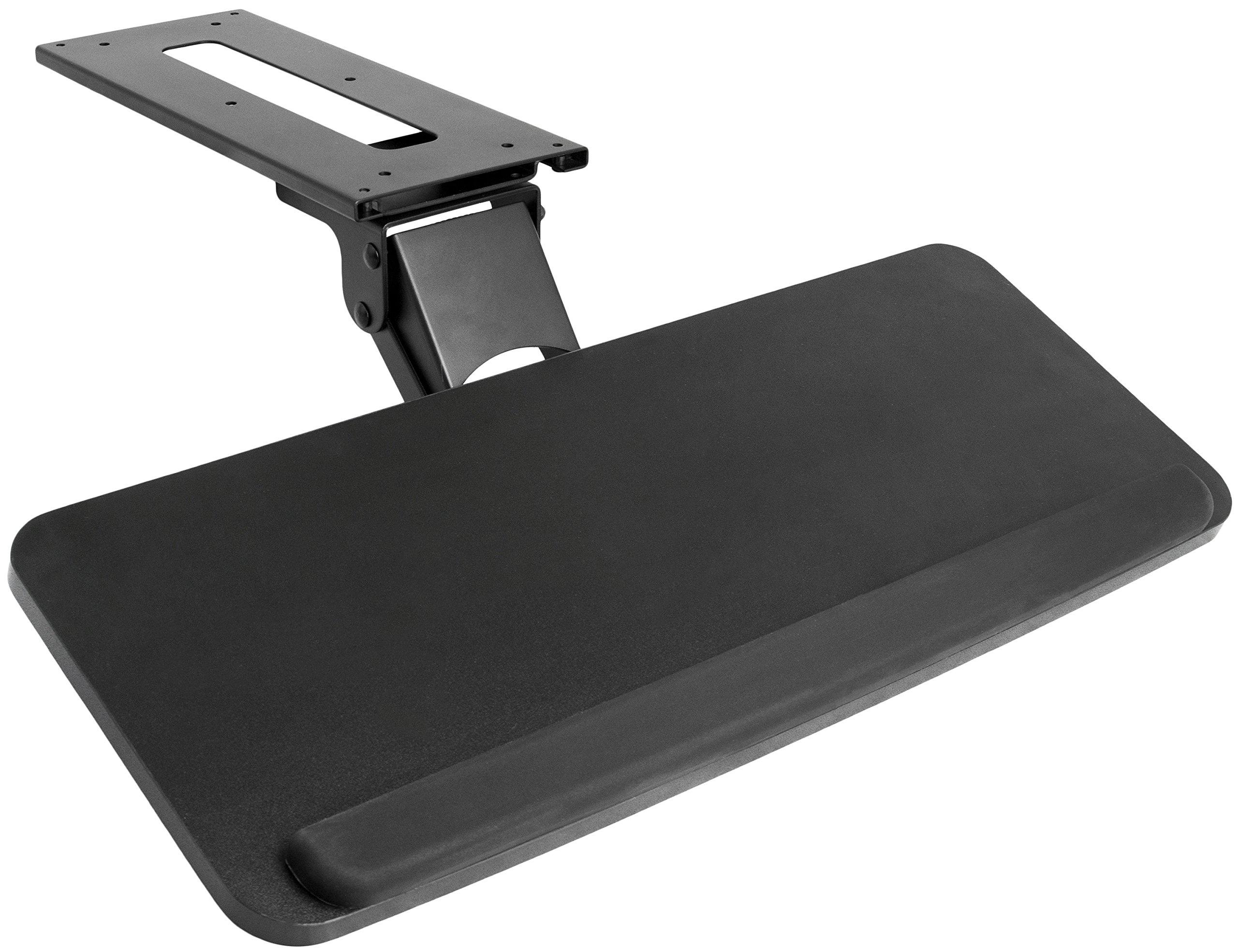 VIVO Adjustable Computer Keyboard & Mouse Platform Tray Ergonomic Under Table Desk Mount Drawer Underdesk Shelf (MOUNT-KB03B)