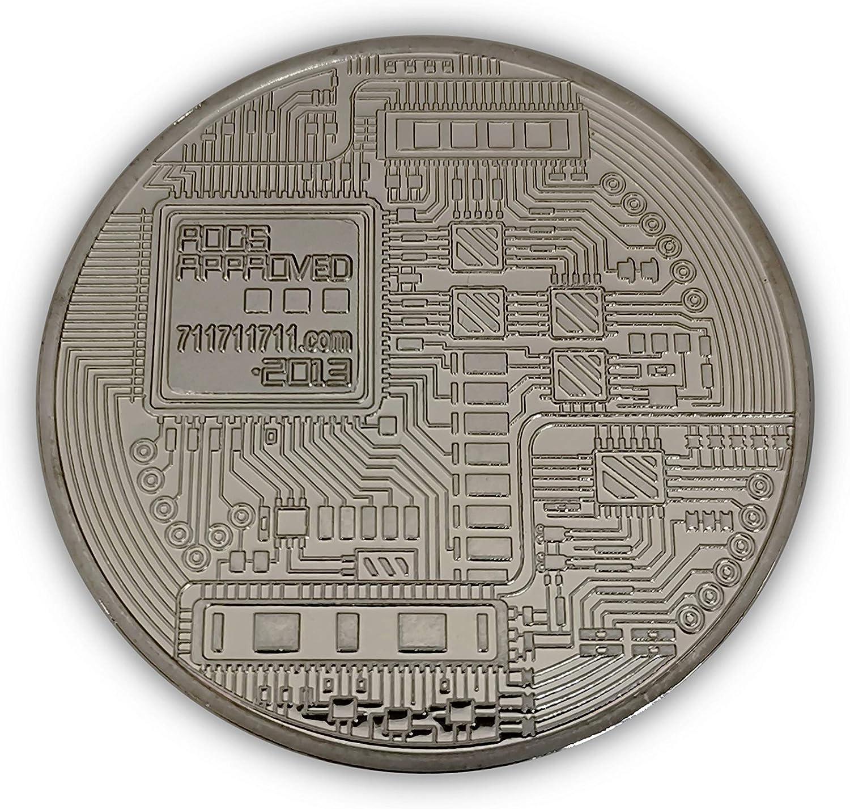 Rare New Bitcoin Silver color collectable cryptocurrency coin