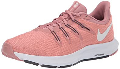 Nike Womens Quest Running Shoes (Rust Summit White/Pink Ti 600), 7.5