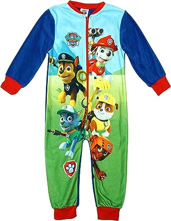 Niño Paw Patrol Rocky Chase Microfleece Cremallera pijama de bebé BLUE sizes de 1,5 a 5 Años