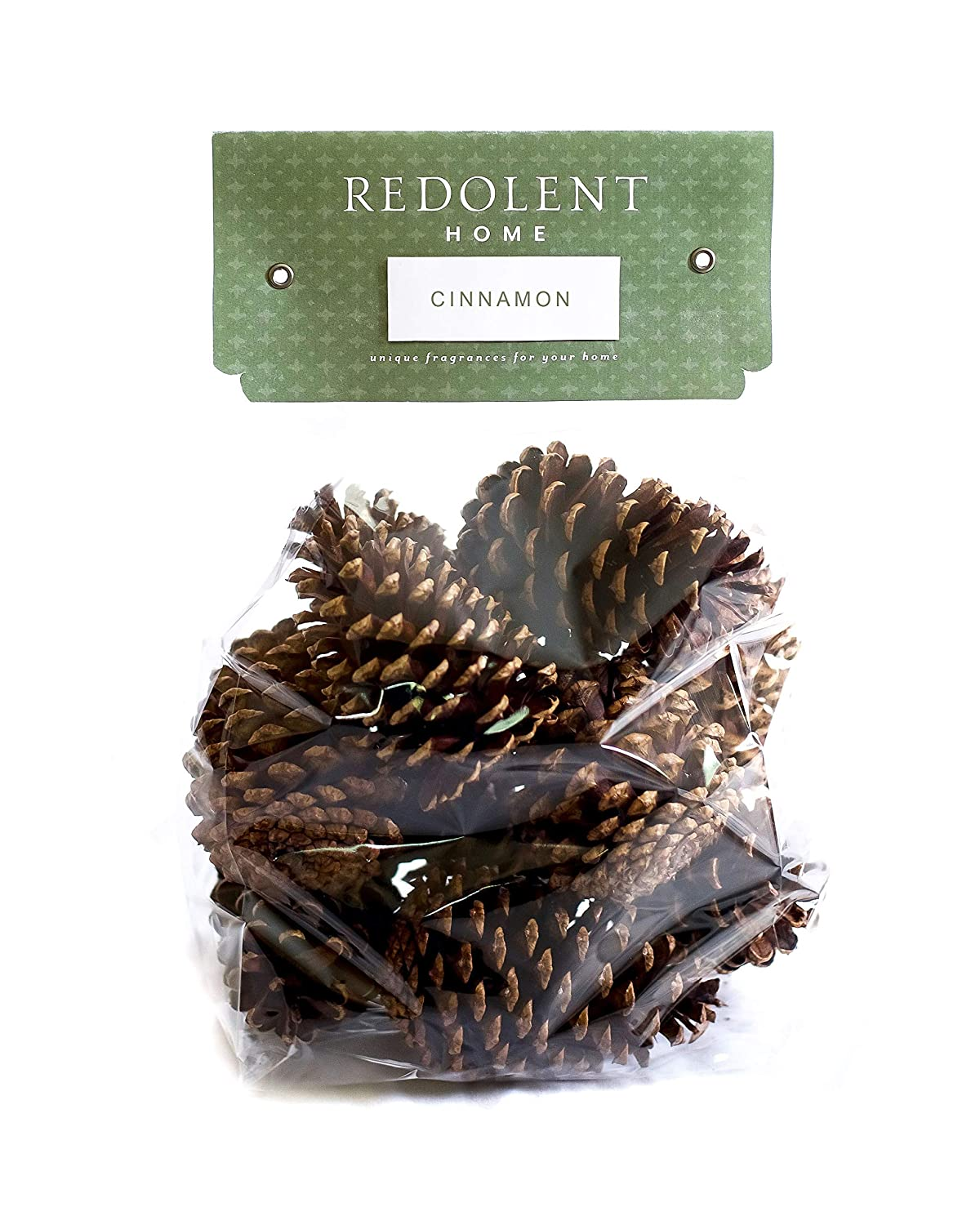 "Cinnamon Scented Pine Cones - (10) 3"" to 4"" Tall Bulk Package Premium, Bug Free, and Perfect for Crafting for Home Accent Decor Pine Cones - Cinnamon Fragrance"