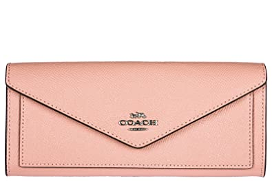 242aa492 Coach women's wallet leather coin case holder purse card bifold pink ...