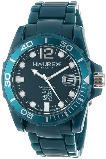 fcaacc76b6ab Haurex Italy Caimano - Reloj analógico de caballero de cuarzo con correa de  plástico azul  Amazon.es  Relojes