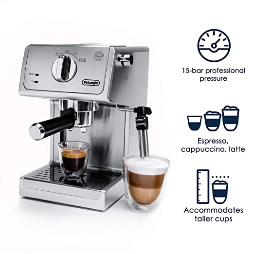 Amazon.com: DeLonghi ECP3630 15 Bar Pump Espresso and Cappuccino Machine, Stainless Steel (ECP3630): Kitchen & Dining