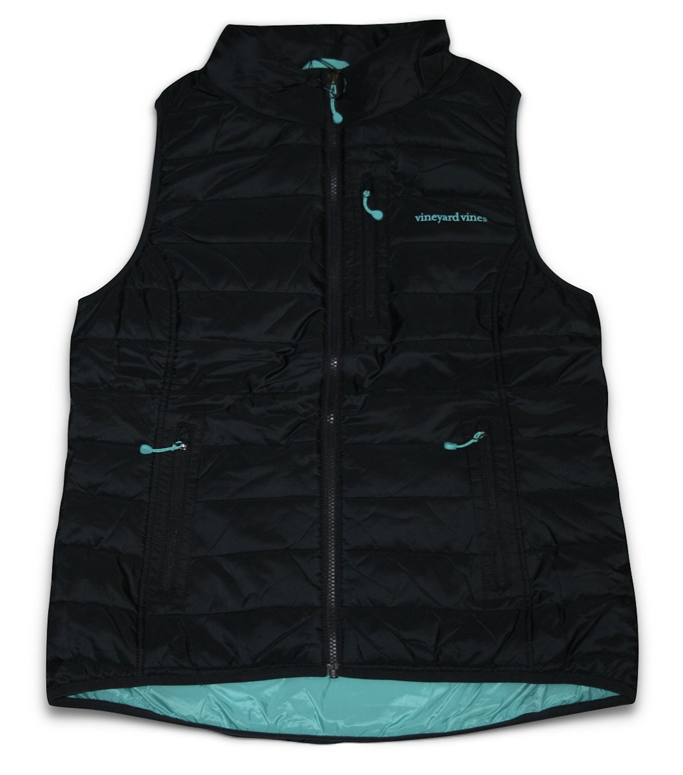 Vineyard Vines Women's Mountain Weekend Vest (Large) Jet Black