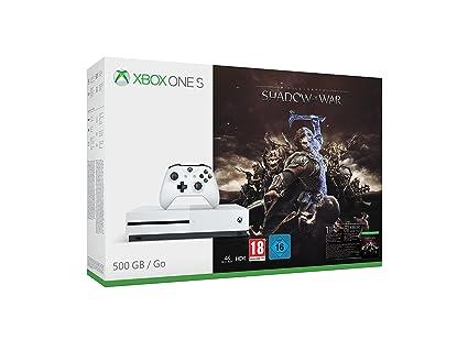 Microsoft Xbox One S Shadow of War 500GB bundle 500GB Wifi Blanco - Videoconsolas (Xbox