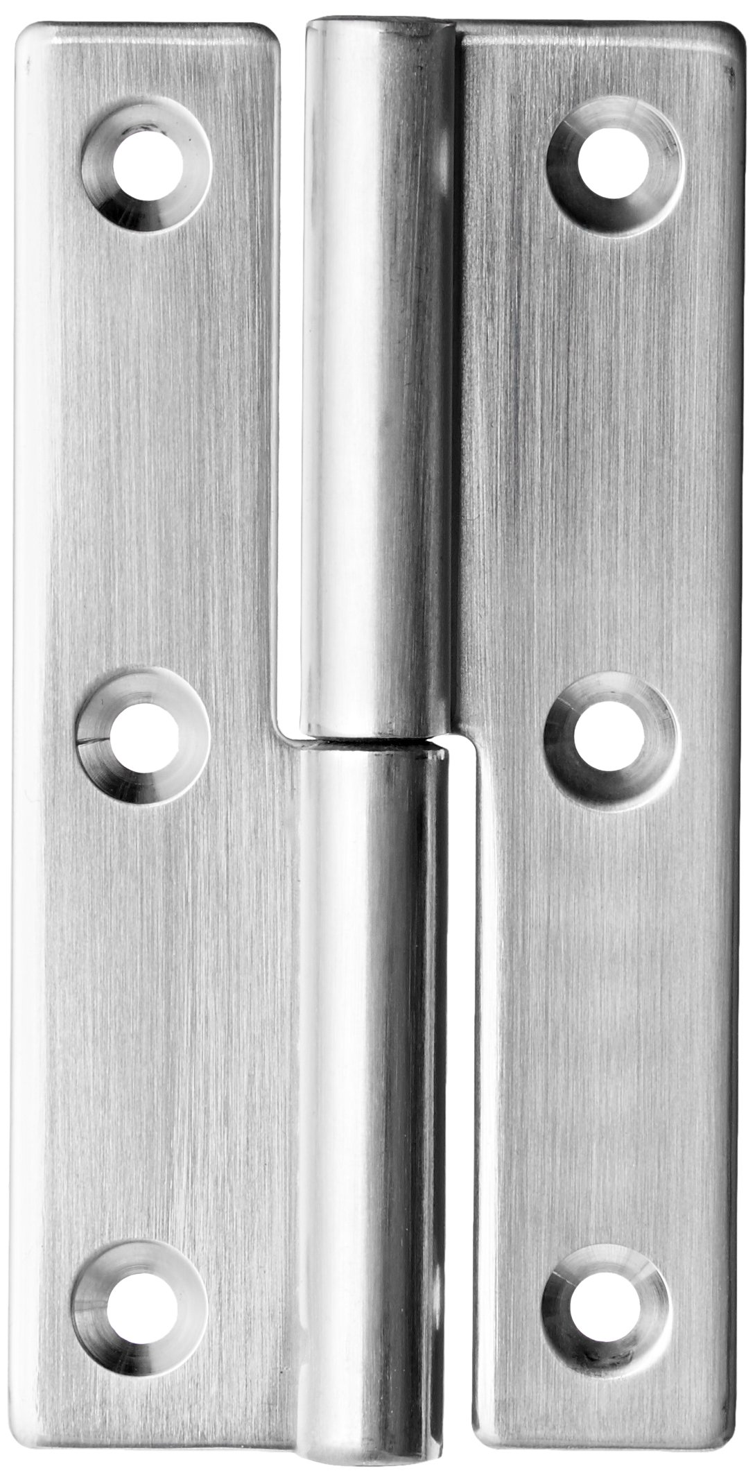 Sugatsune KN-75R/SS Lift Off Hinge, Stainless Steel 304, Polished Finish, Right Handedness, 2mm Leaf Thickness, 38mm Open Width, 8.5mm Pin Diameter