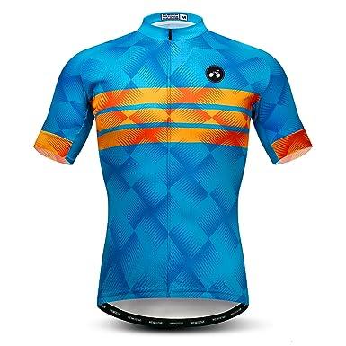 weimomonkey Mens Cycling Jersey Short Sleeve T Shirt Cycling Top Breathable  Bike Biking Shirts Blue S 2c26f9c63