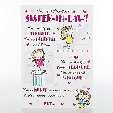 Hallmark - Tarjeta de cumpleaños para hermana en ley ...