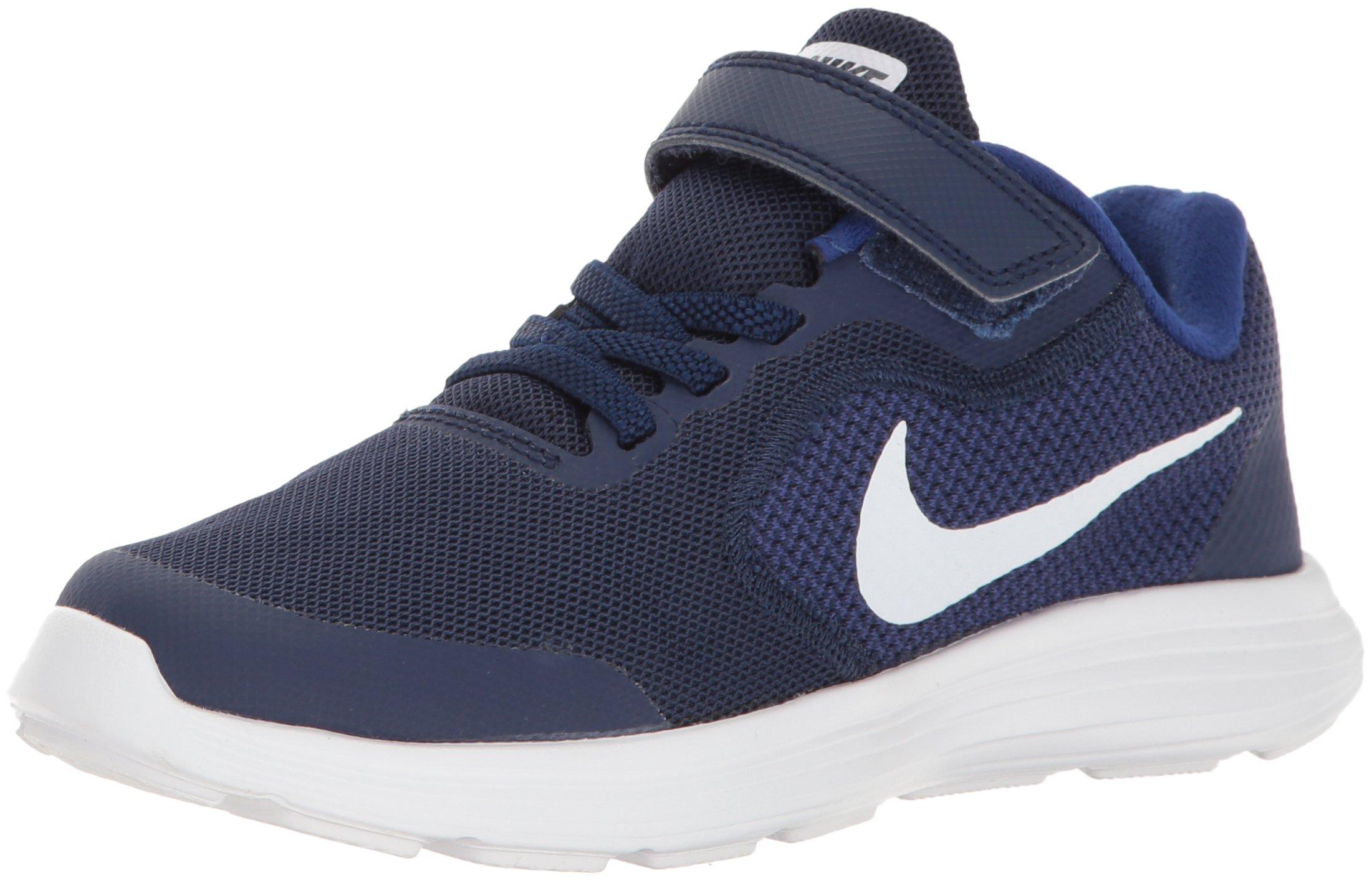 Nike - Revolution 3 Psv - 819414406 - Color: Azul marino-Blanco-Negro - Size: 28.5