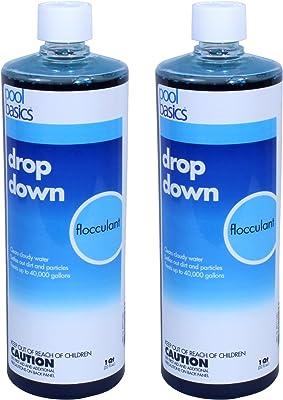 Pool Basics 2440PB-02 Drop Down Liquid Flocculant for Swimming Pools, 1-Quart, 2-Pack