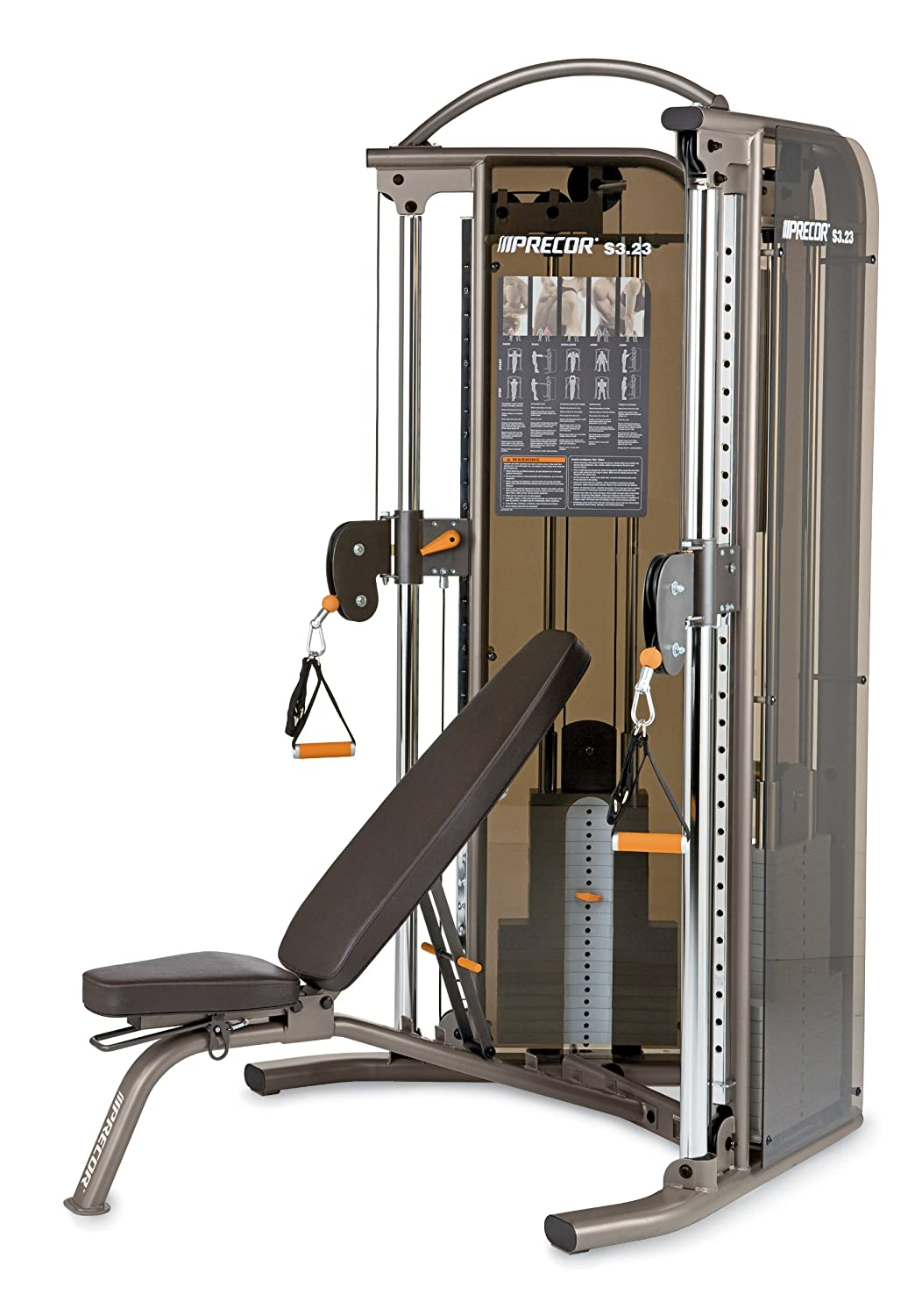 amazon com precor s3 23 functional trainer and bench combo dualamazon com precor s3 23 functional trainer and bench combo dual adjustable pulley sports \u0026 outdoors