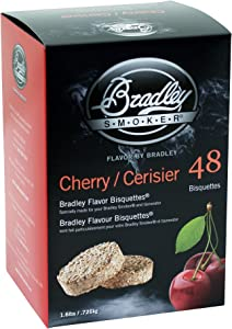 Bradley Smoker BTCH48 Smoker Bisquettes, 48 Pack, Cherry