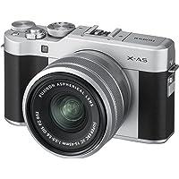 Fujifilm X-A5 Silver Fotocamera Digitale da 24 Mp e Obiettivo Fujinon XC15-45mm f3.5-5.6 OIS PZ, Sensore CMOS APS-C, Ottiche Intercambiabili, Argento/Nero