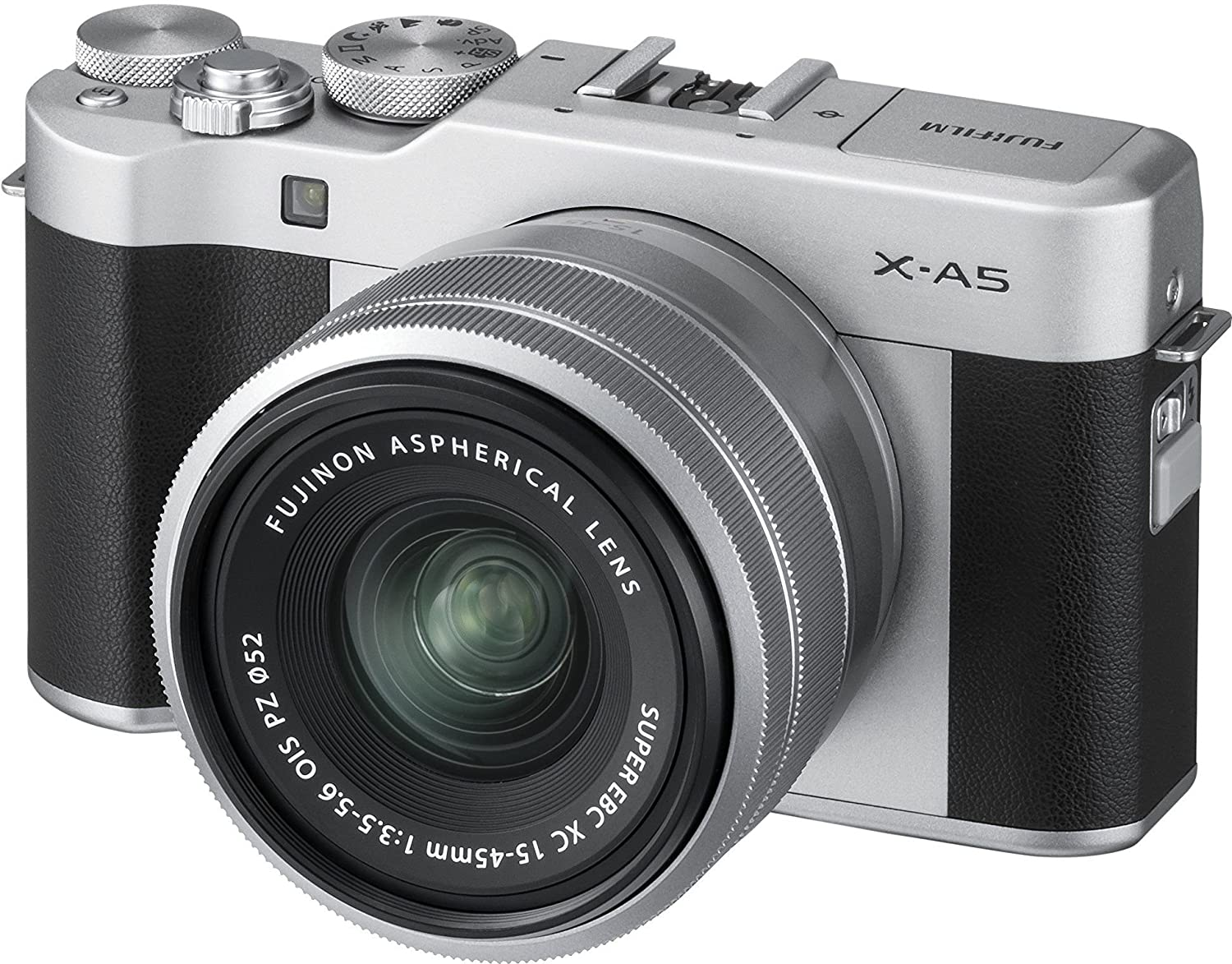 Fujifilm X-A5, kit cámara con objetivo intercambiable XC 15-45 mm /3.5-5.6 ois pz, color plata.