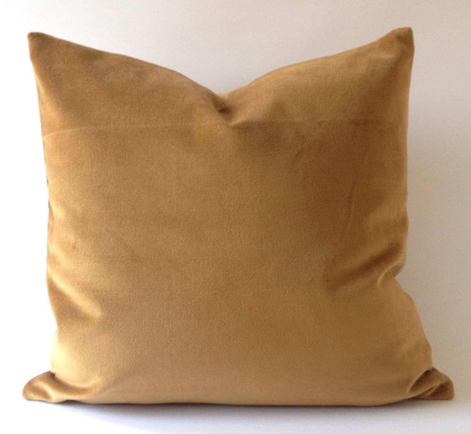 amazoncom decorative throw pillow cover camel brown cotton velvet 20x20 51x51cm insert pillow no included home kitchen - Camel Color
