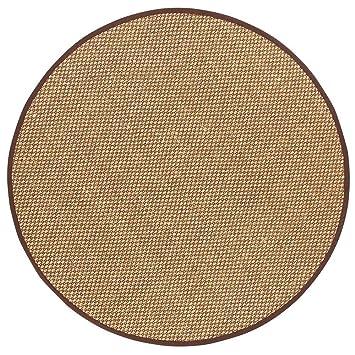 adirondack sisal area rug 8u0027 round chocolate