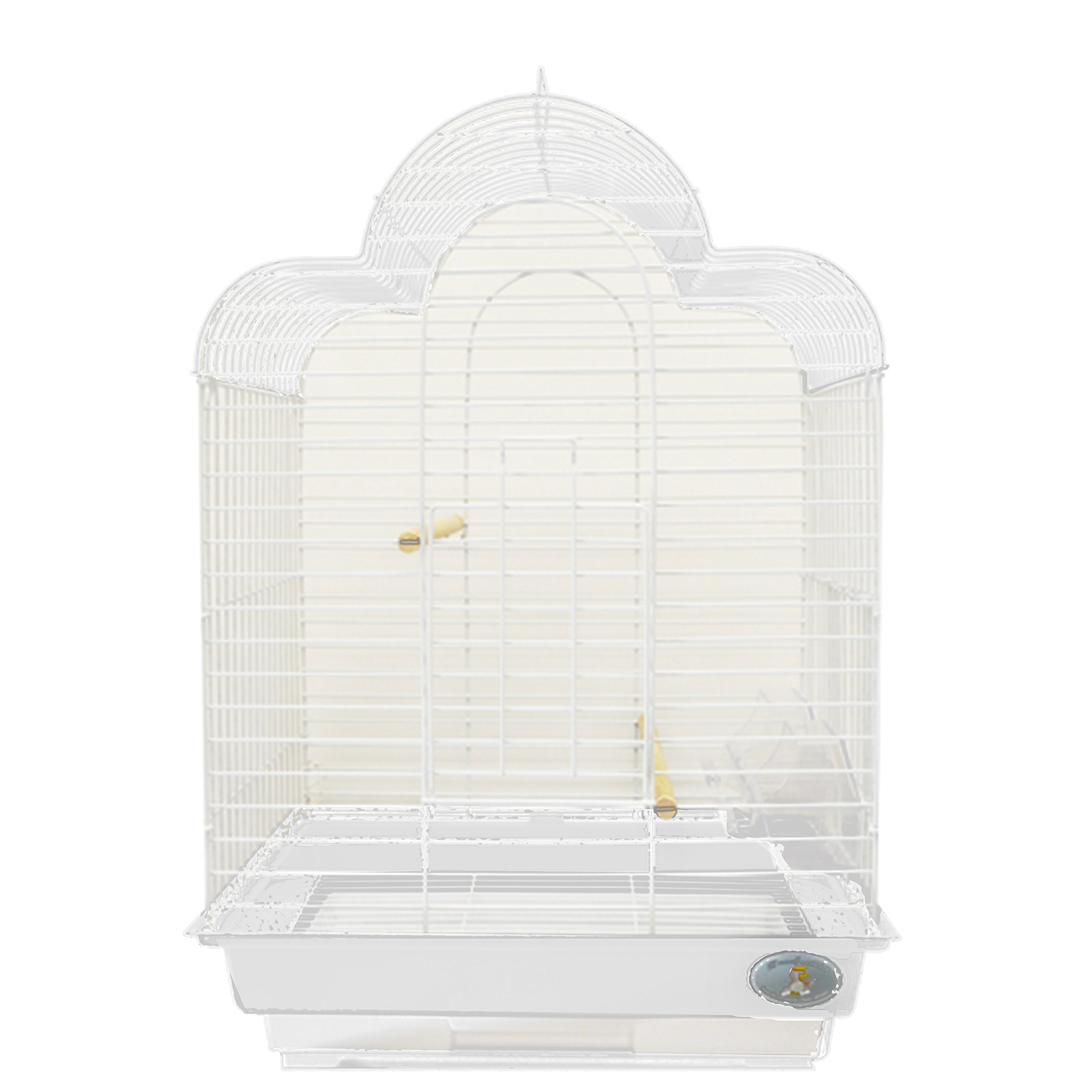 Kings Cages ES 1814_T bird cage toy toys Cockatiels Finches Parakeets Lovebirds (WHITE)