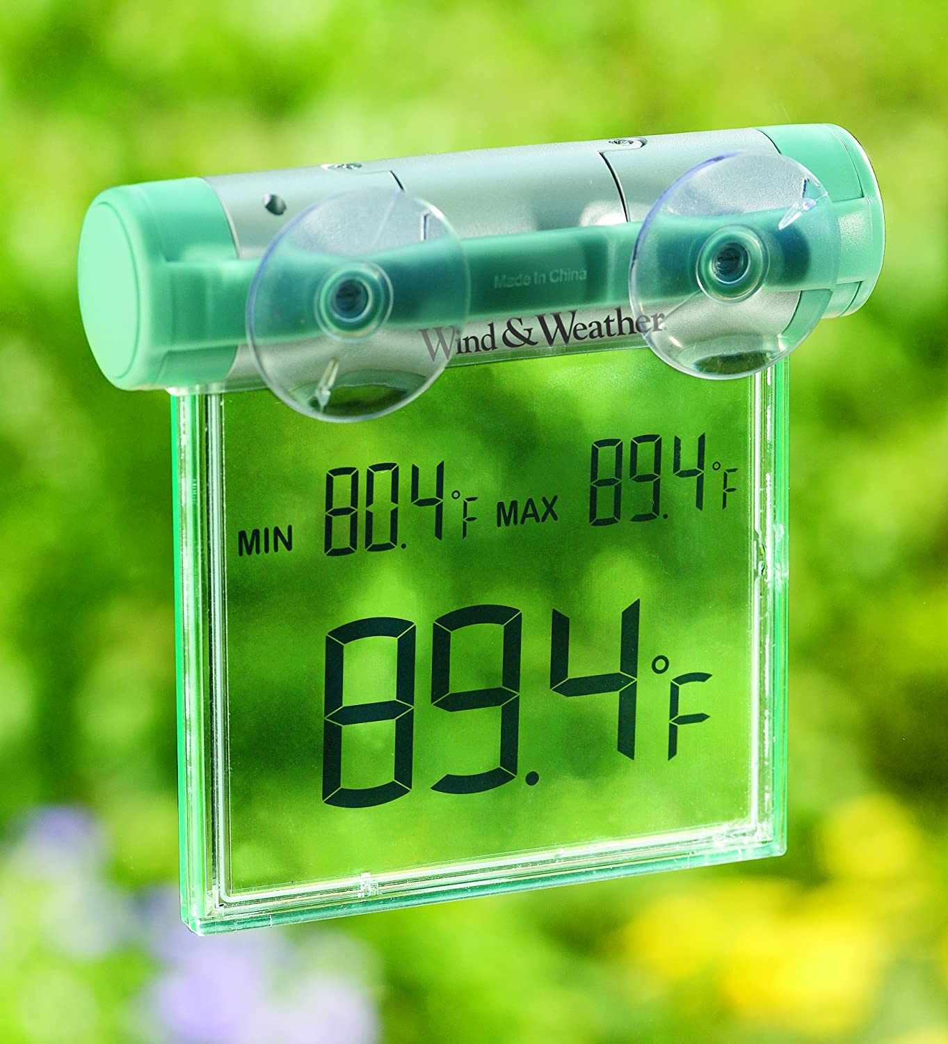 Weather-Resistant Digital Window Mounted Thermometer with Big Display Plow&Hearth® 83592
