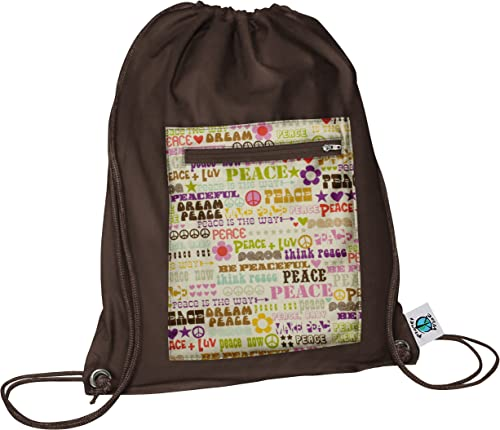 Planet Wise Drawstring Sports Bag, Think Peace, Made in the USA