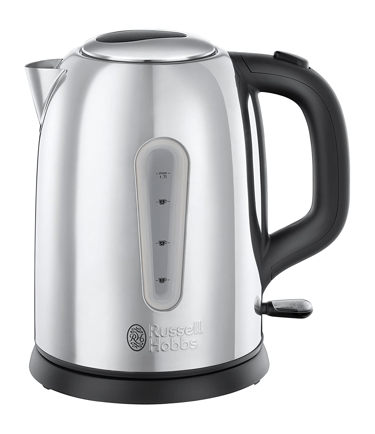 Russell Hobbs 23760 Coniston Kettle, 1.7 Litre, 3000 W, Silver, Stainless Steel, W, 1.7 liters [Energy Class A]
