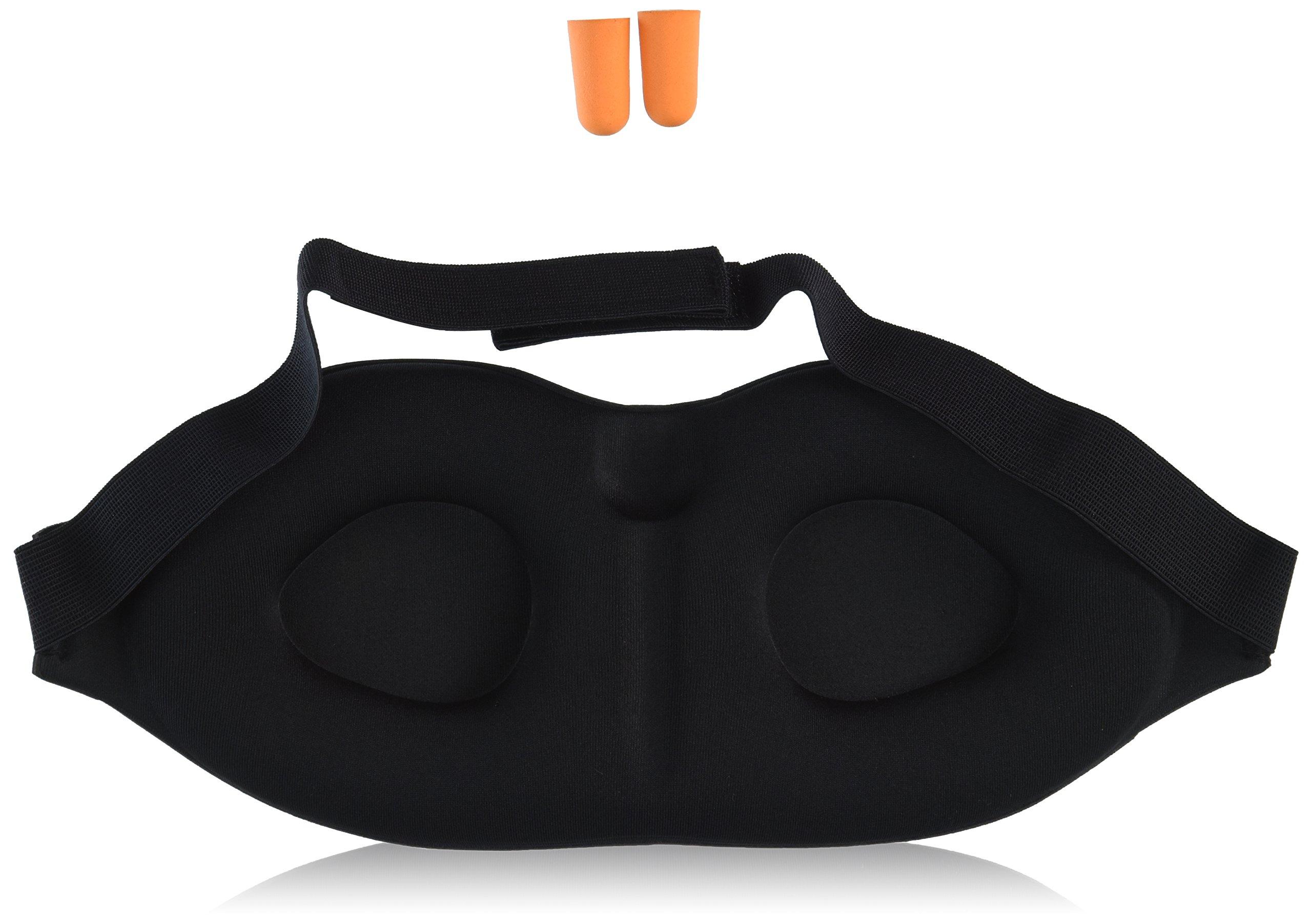 Soft Padded Sleep Mask | Eye Mask Comfortable Without Touching Eyes | Travel