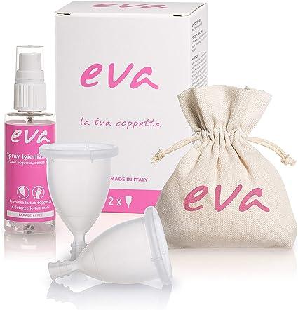 Dulàc Copa Menstrual Super Soft, Cómoda en cualquier situación, segura y ecológica, Bolsa de Algodón Natural incluida, 100% Made in Italy, Eva (Small ...