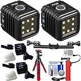 Litra LitraTorch LED Video Light (2 Pack) with Triple Bracket Mount + Battery Hand Grip + Flex Tripod + Kit