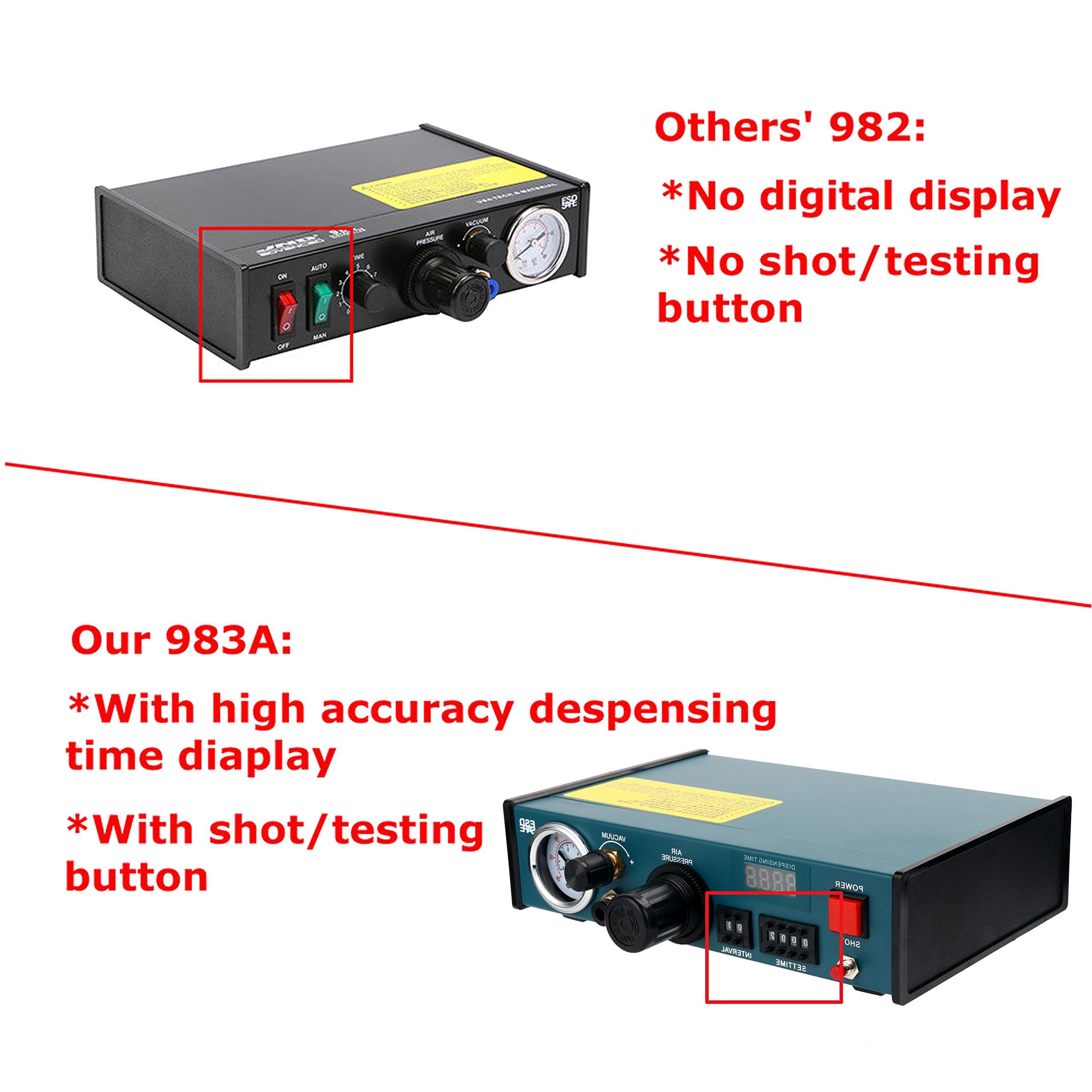 Digital Display Auto Glue Dispenser Solder Paste Liquid Controller Dropper 983A by YaeCCC (Image #4)
