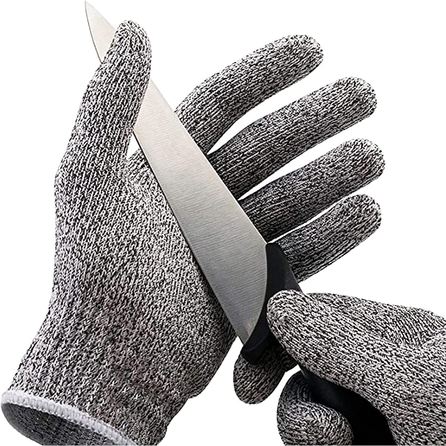 ShengYu-Z Buy 1 Get 1 FREE,Food Grade Level 5 Cut Resistant Gloves, Safety Kitchen Cuts Gloves for Oyster Shucking, Fish Fillet Processing, Mandolin Slicing, Meat Cutting and Wood Carving.(Large-1 Pairs, Medium-1 Pairs)