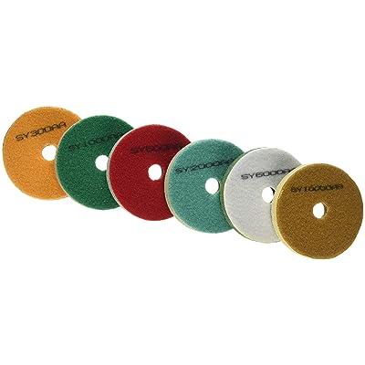 Toolocity ST0208-M4 4-Inch Sponge Fiber Polishing Pads for Marble: Home Improvement