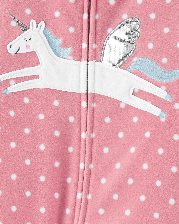 Carters Girls Toddler 2-Pack Loose Fit Fleece Footed Pajamas
