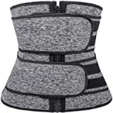Actloe Womens Waist Trimmer Belt with Zipper Waist Cincher Corset for Weight Loss