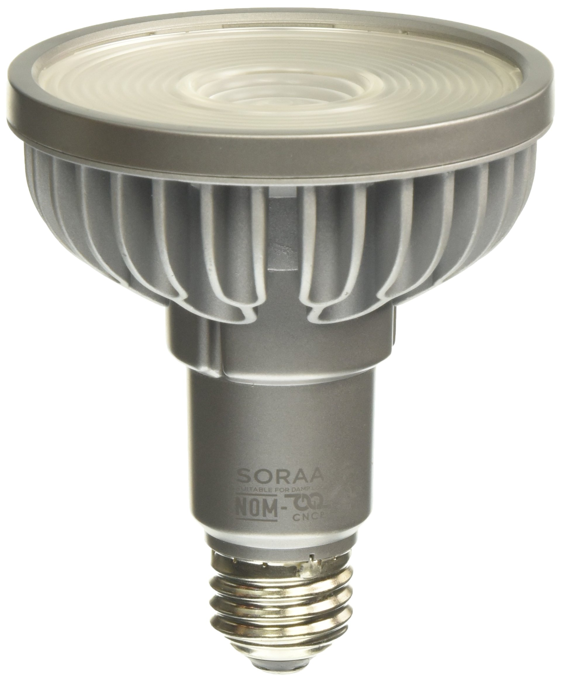 Bulbrite SP30L-18-60D-830-03 SORAA 18.5W LED PAR30L 3000K PREM. 60° Dimmable Light Bulb, Silver