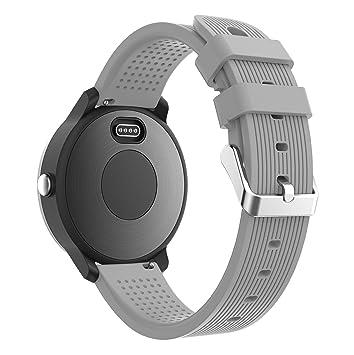 TOPsic Garmin Vivoactive 3 Correa, Reemplazo Silicona Correa Deportiva WatchBand para Garmin Vivoactive 3,Garmin Vivomove HR, Samsung Gear S2 Classic ...