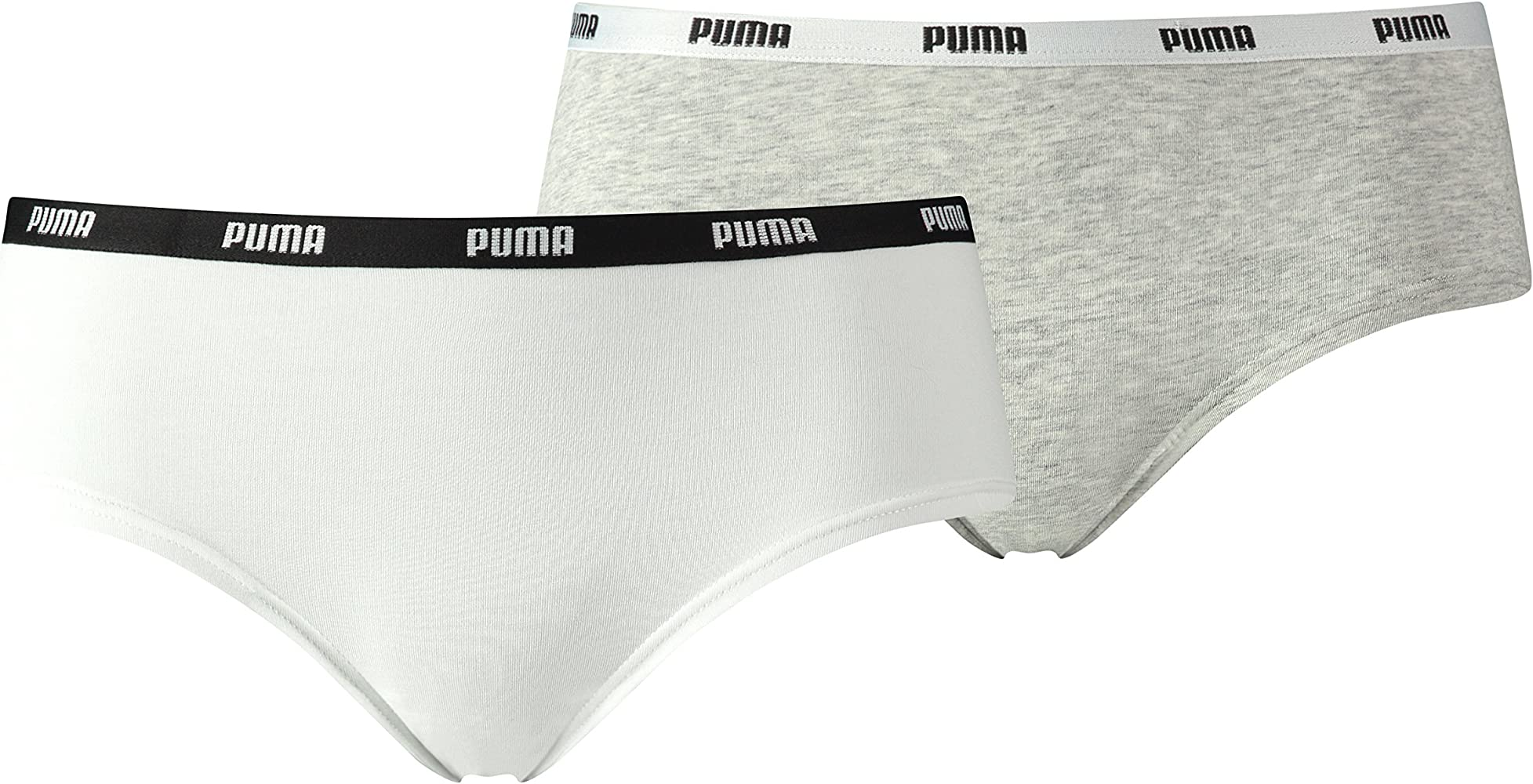 PUMA – Iconic Hipster 2p, Braguitas para Mujer, Mujer, Iconic Hipster 2P, Bianco/Grey Melange, XL: Amazon.es: Deportes y aire libre