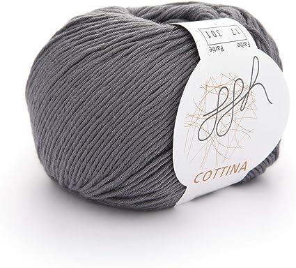 ggh Cottina - 017 - Gris - Algodón para tejer y hacer ganchillo ...